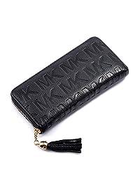 TACOO Women Wallet Leather Zipper Larger Capacity Fashion Durable Elegant Purse