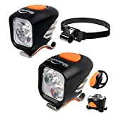 Magicshine Premium MTB Enduro Bike Light Kit, 1600 Lumen Max Output Bicycle Headlight plus 1200 Lumen Max Output Helmet light with FREE Taillight, Bicycle Lights Combo for Mountain bikes