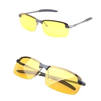 6e4fcfa267 RUNGAO Gafas de sol para hombre de alta gama, visión nocturna, polarizadas,  para conducción, aviador, gafas de sol: Amazon.es: Deportes y aire libre
