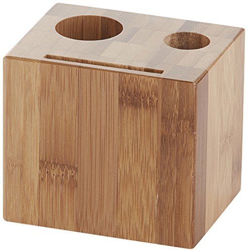 American Metalcraft WBB Wood Block Check Presenter, Bamboo