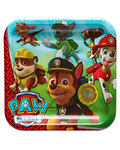 American Greetings Paw Patrol Party Supplies Disposable Paper Dinner Plates, -
