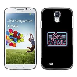 TopCaseStore / la caja del caucho duro de la cubierta de protección de la piel - Sign Sexy Teal Black Quote Innuendo - Samsung Galaxy S4 I9500
