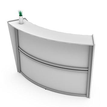 Amazon Com Linea Italia Curved Reception Desk Single Unit White