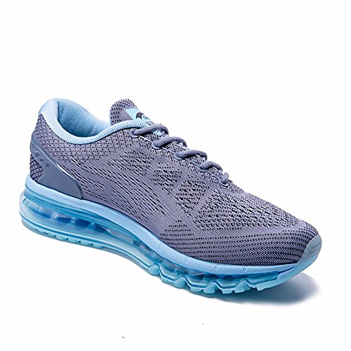ONEMIX Womens Air Running Shoes,Sloping Tongue Design, Grey/Blue, Womens 8(M)/Mens 6.5(M) US 39EU by ONEMIX (Image #7)