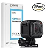 [3-Pack] FilmHoo Tempered Glass Screen Protector for Gopro Hero 4 Session Hero 5 Session, 0.3mm 9H Hard Scratch-Resistant Camera Lens Film for GoPro Hero4 Session/Hero5 Session Camera Accessories
