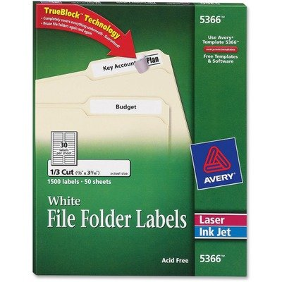 Discount AVE5366 - Avery Filing Label