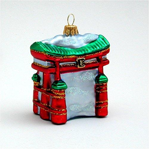 Japanese Tori Gate - Japanese Tori Gate - Polish Blown Glass Ornament