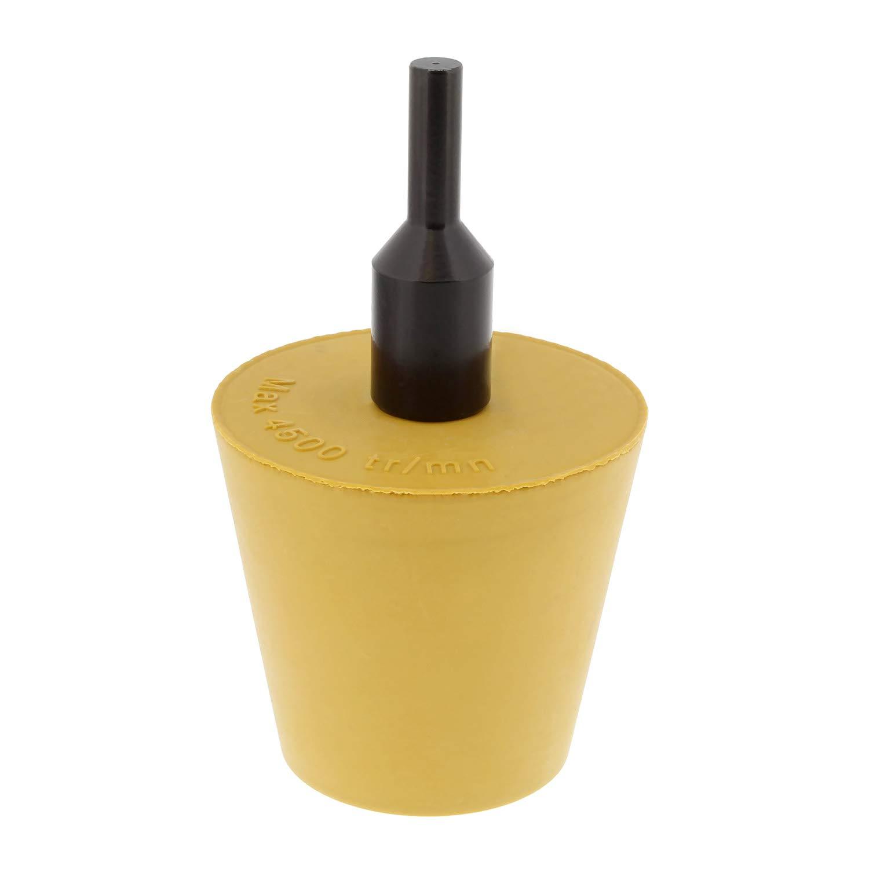 cono ABN de pulido goma para fijación de taladro base 0.6cm