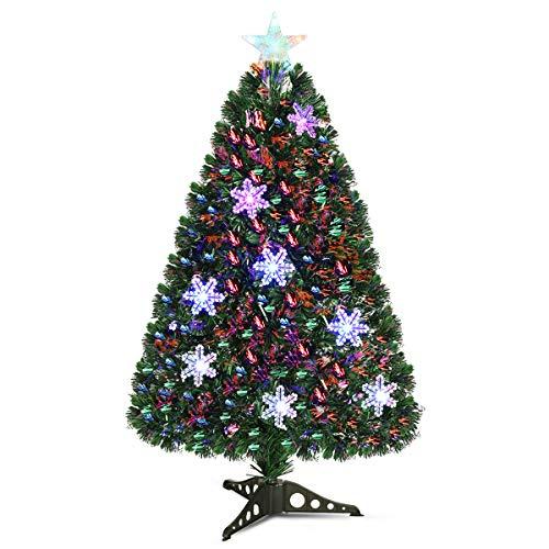 Goplus Pre-Lit Fiber Optic Artificial Christmas Tree