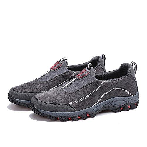 Scarpe Da Passeggio Di Sicurezza Casual Da Uomo Di Tendenza Leader Leggere Su Sneakers Comfort Grigio