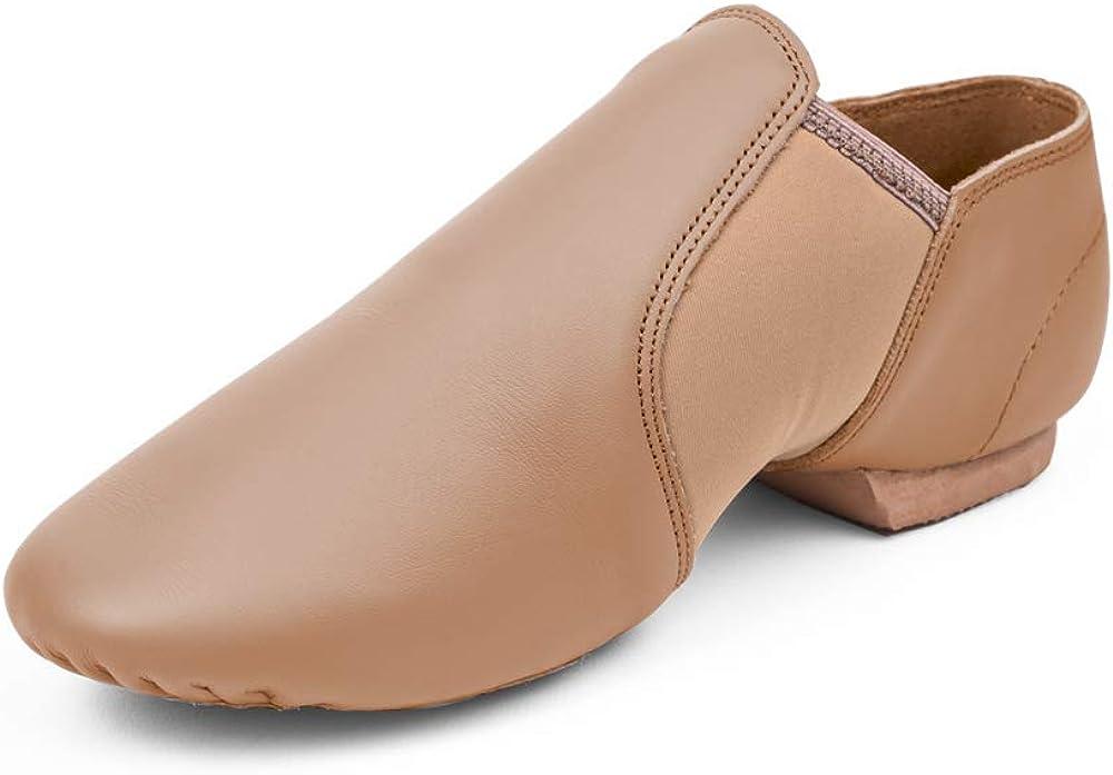 STELLE Leather Jazz Slip-On Dance Shoes for Girls Boys Toddler Kid