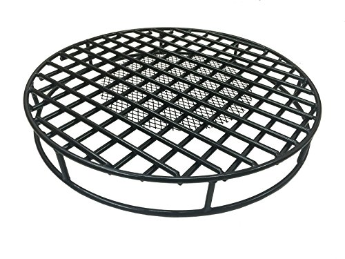 e Round 29.5'' Diameter Premium Heavy Duty Steel Grate with Ember Catcher for Outdoor Fire Pits ()