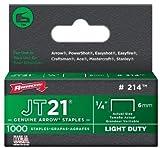 Arrow Fastener 214 100 Pack 1/4in. JT21 Light Duty Staple, 1,000 staples per Pack