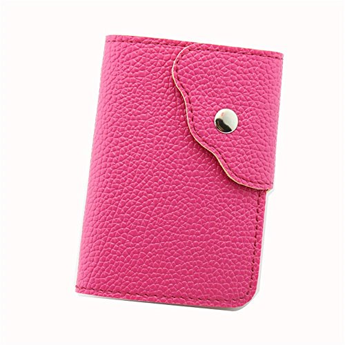 Red Metal and PU Leather Credit Card/Business Card Holder - 5