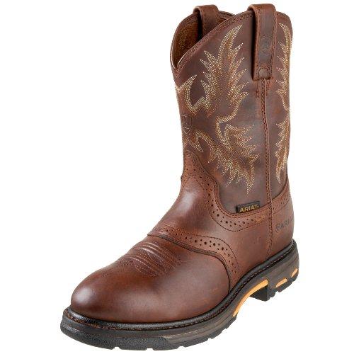 Ariat Men's Workhog Pull-On Work Boot, Dark Copper, 8.5 2E US
