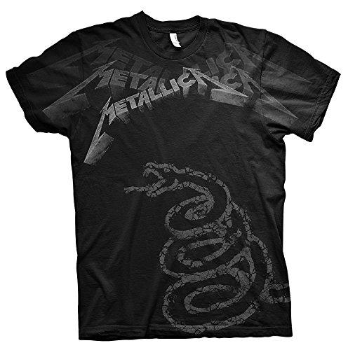 Metallica Black Album James Hetfield Rock Official Tee T-Shirt Mens Unisex ()