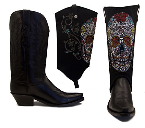 Old West Boots With Sugar Skull BootRoxx Size 8 (Old West Outfit)