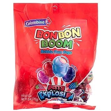 Amazon.com : Colombina Bon Bon Boom Berry Explosion Bubble ...