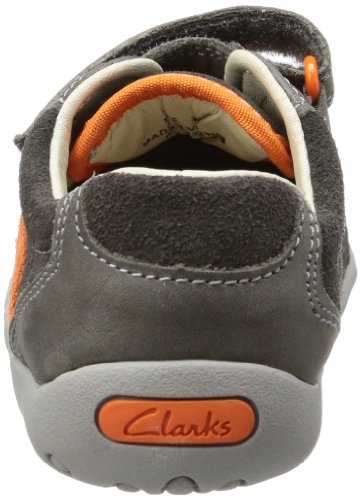 Clarks Softly Go Fst 20355113 Baby Jungen Lauflernschuhe Grau (Slate Leather)