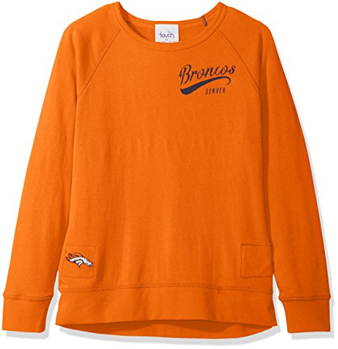 (NFL Denver Broncos Women's Dugout Reversible Pullover Sweatshirt, Medium, Orange)
