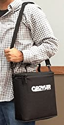 Growler Gear - Double Insulated Beer Growler Cooler Bag and Carry Case, Double Bottle, Black