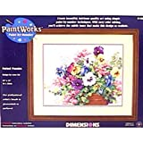 : Dimensions Needlecrafts Paintworks Paint By Number, Potted Pansies