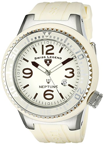 Swiss Legend Men's 21818P-16 Neptune Cream Dial Cream Silicone Watch