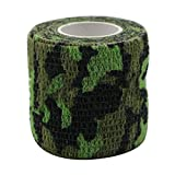 Goshfun Kinesiology Tape Wrap,Self Adhesion Bandage for Muscle Support, Pain Relif, Ankle Support Protective Tape, Single Roll - Marsh Camouflage
