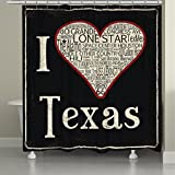 Laural Home Texas Love Shower Curtain