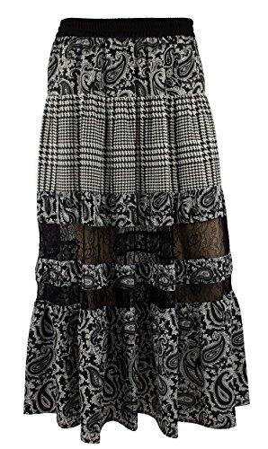 Michael Michael Kors Women's Lazio PCD Maxi Skirt Slate Grey Skirt