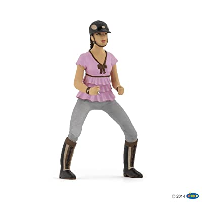 "Papo ""Riding Girl Fashion"" Figure, Pink: Toys & Games"