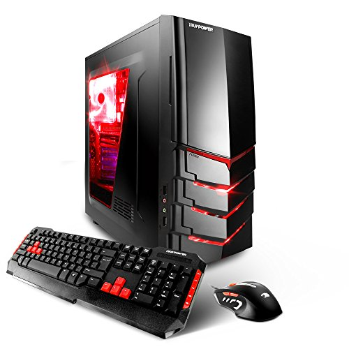 iBUYPOWER AM600i Gaming Desktop - Intel i5-6400 Quad Core 2.7GHz, 8GB DDR4 RAM, 1TB HDD, 24X DVD, NVIDIA GTX 1060...