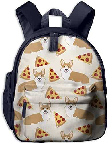ad09767cfbe9 HFIUH5 Corgi Pizza Cream Cute Printing Backpack School Book Bag Boys Girls  Daypack Travel Bag For