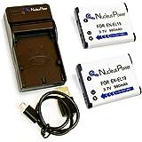 Nucleus Power Nikon EN-EL19 ×2個+USB充電器のセット 互換バッテリー BI-2S-N(EL19)