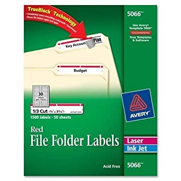 Amazon Avery 5066 Filing Label Office Products