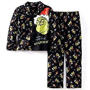 67ace480a7ae Amazon.com  How The Grinch Stole Christmas Pajamas (10)  Clothing