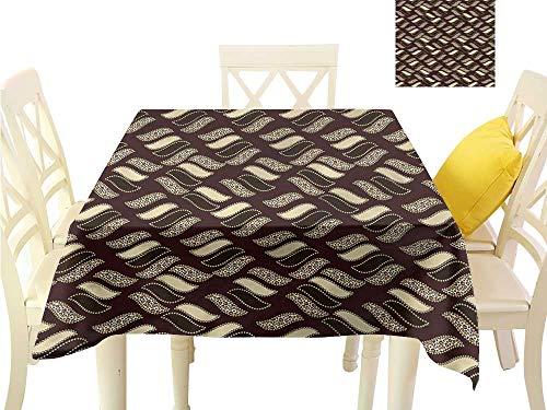Davishouse Elegant Waterproof Spillproof Polyester Fabric Table Cover Indigenous Cheetah Skin Waterproof/Oil-Proof/Spill-Proof Tabletop Protector W36 x L36
