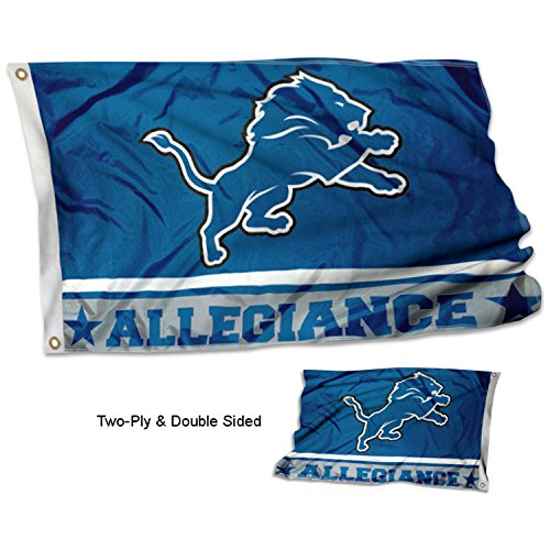 WinCraft Detroit Lions Double Sided Allegiance Flag ()