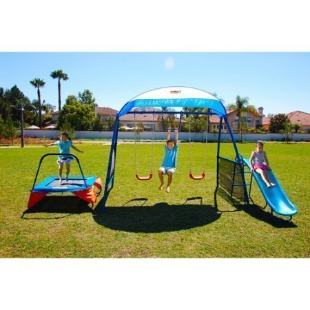 NEW Inspiration 250 Fitness Playground Metal Swing Set (Swingsets For Kids)