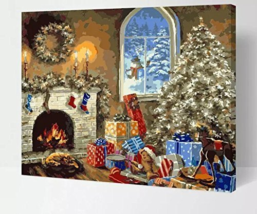 Christmas Paint By Number Kits Comfy Christmas