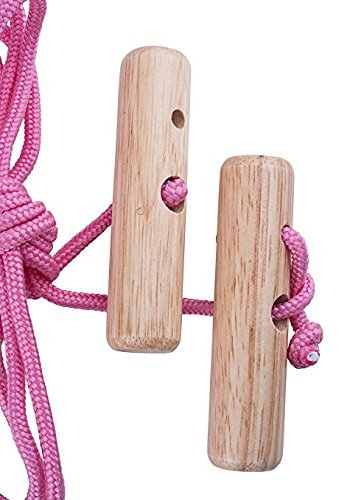 Overhead Overdoor Shoulder Pulley Therapy Exercise System - Wooden Handles With Metal Door Bracket - Pink