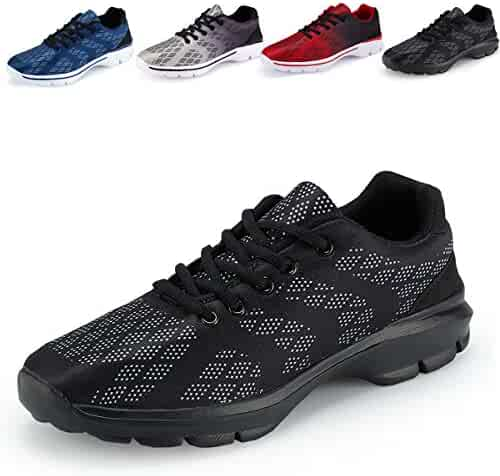 230b4d120ba5 Men s Lightweight Breathable Running Tennis Sneakers Casual Walking Shoes  (US 10 EU 43