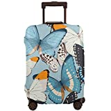 Tlkkkd_N Colorful Butterfly Travel Luggage Cover Anti-Scratch Baggage Suitcase Protector Cover Fits 18-32 Inch