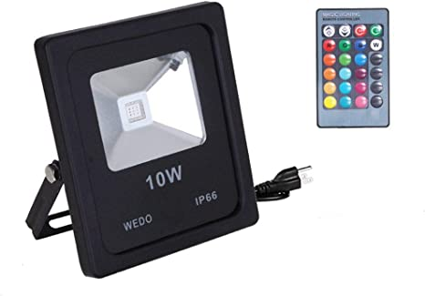 10W LED FLOOD COLOR CHANGING LIGHTS WITH REMOTE CONTROL FREE POSTAGE !!