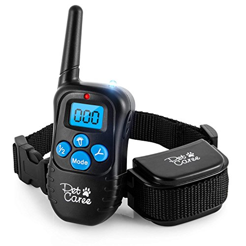 instecho Dog Training Collar, 100% Rainproof Rechargeable Electronic Remote Dog Shock Collar 330 Yards with Beep/Vibrating/Shock Electric E-Collar