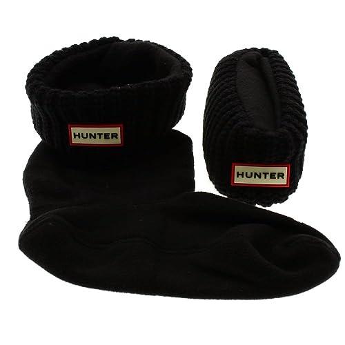 Calcetines Botas de Agua Hunter Socks Hals Cardigan Negro: Amazon.es: Zapatos y complementos