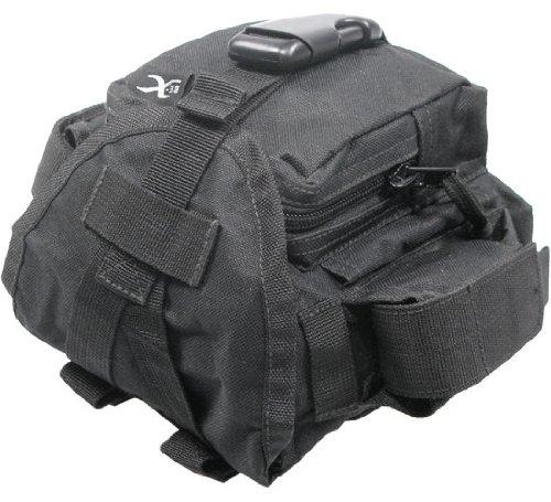 BE-X Modulare Feldflaschenhülle für 1l Armeefeldflaschen, mit Seitentasche - schwarz