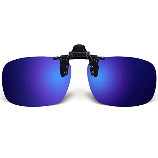 3021459d55a Besgoods Polarized Clip-on Flip up Plastic Sunglasses Lenses Glasses  Outdoor Driving Fishing Cycling (