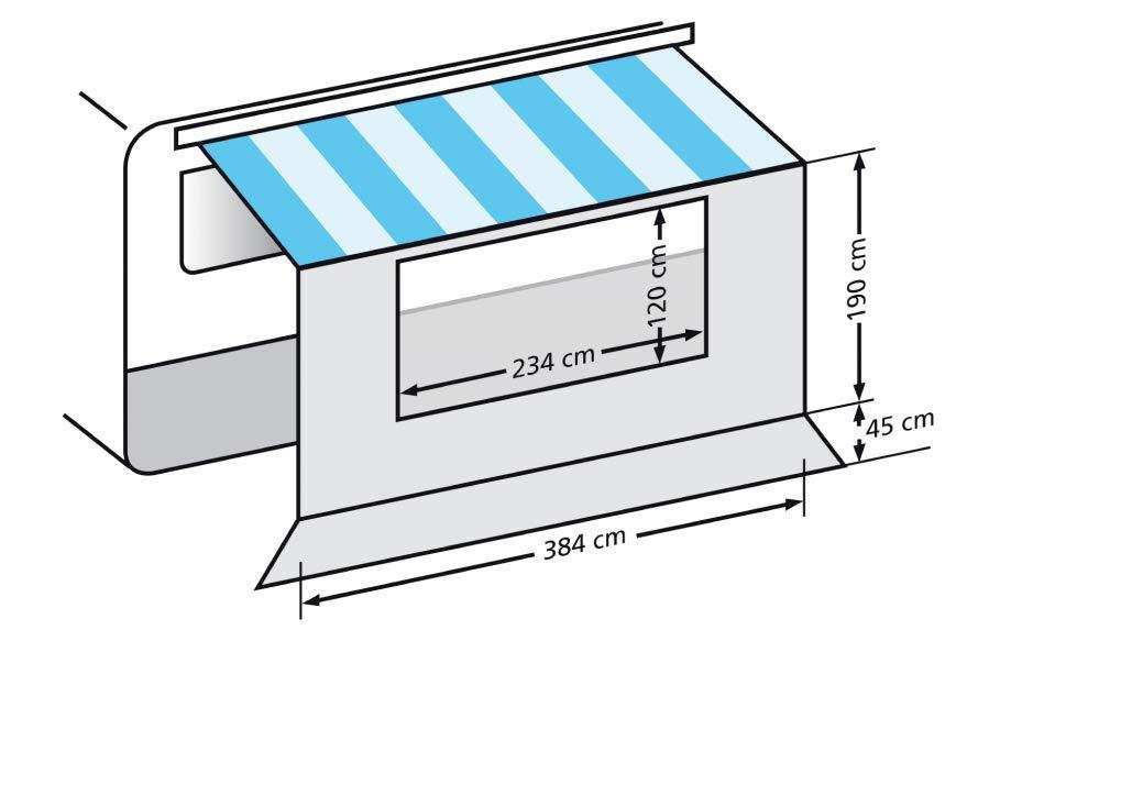 Eurorail universal pared frontal con ventana para CT0023.400 casete canopy