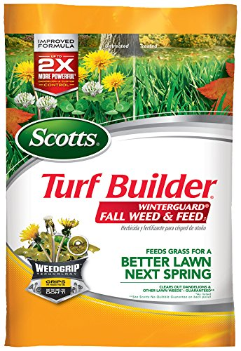 Scotts 50250 Turf Builder Winter Guard Fall Weed & Feed Fertilizer, 5 M